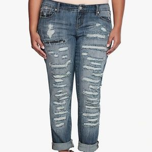 Torrid Premium Boyfriend Jean w/ Destruction